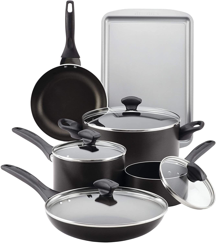 Farberware 15-Piece Aluminum Nonstick Cookware Set