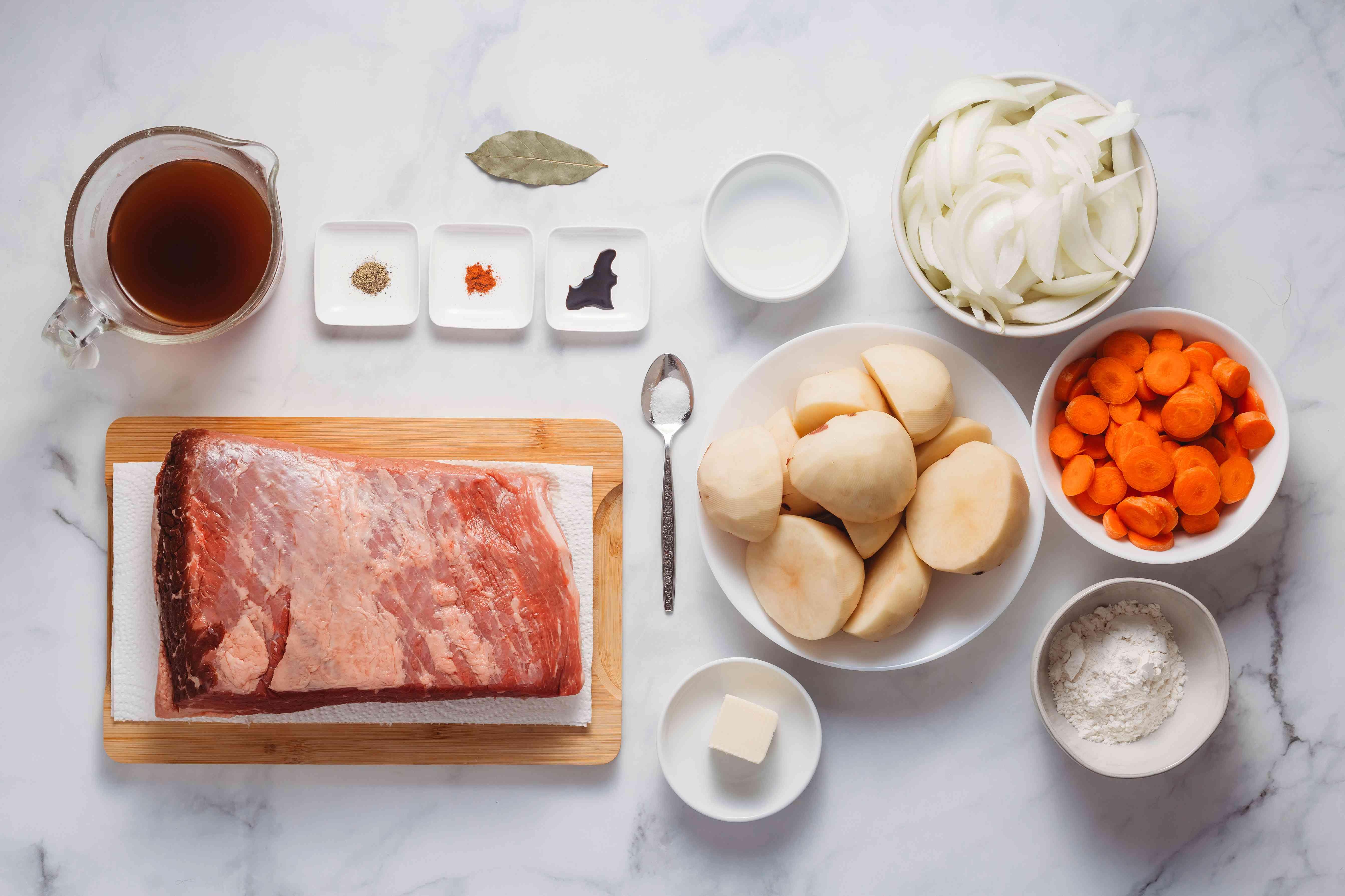 Ingredients for crock pot beef brisket