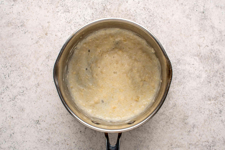 milk and flour in a saucepan