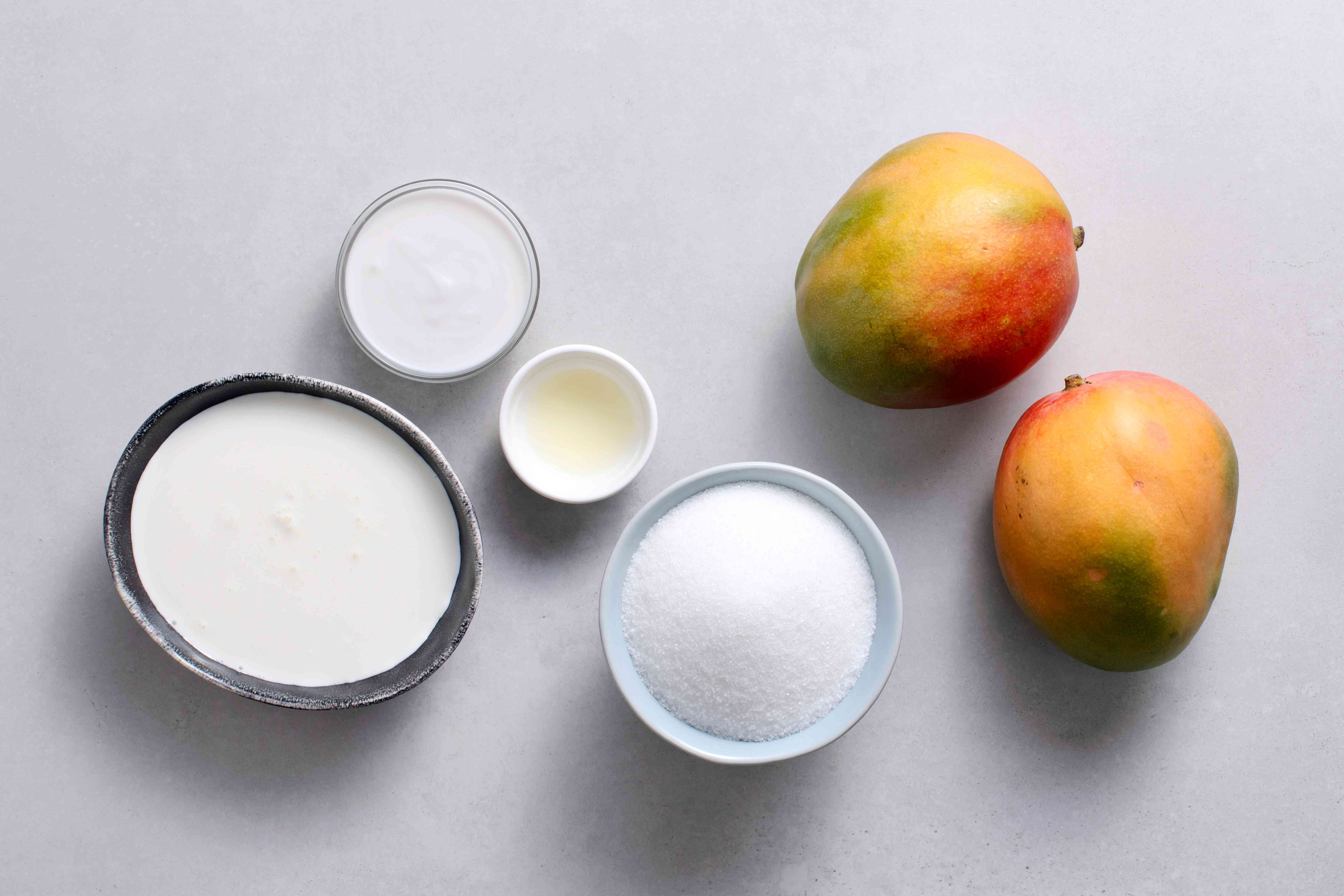 Easy, No Churn Mango Ice Cream ingredients