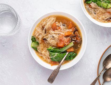 Lunar New Year Longevity Noodles: Misua Soup