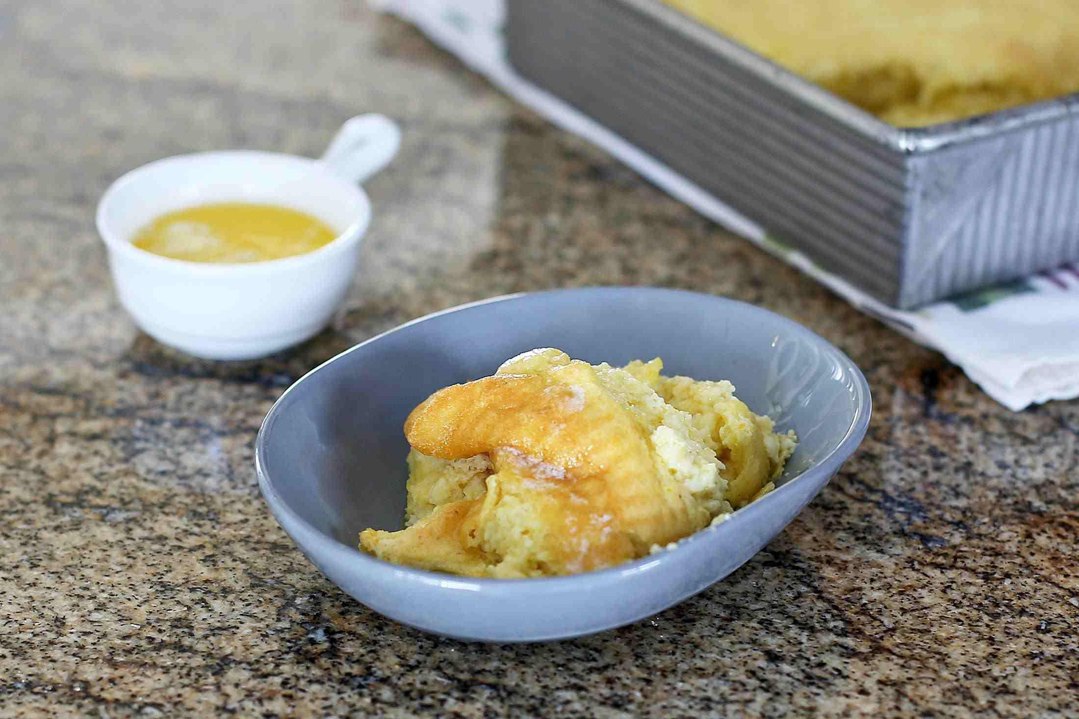 Spoonbread with Polenta