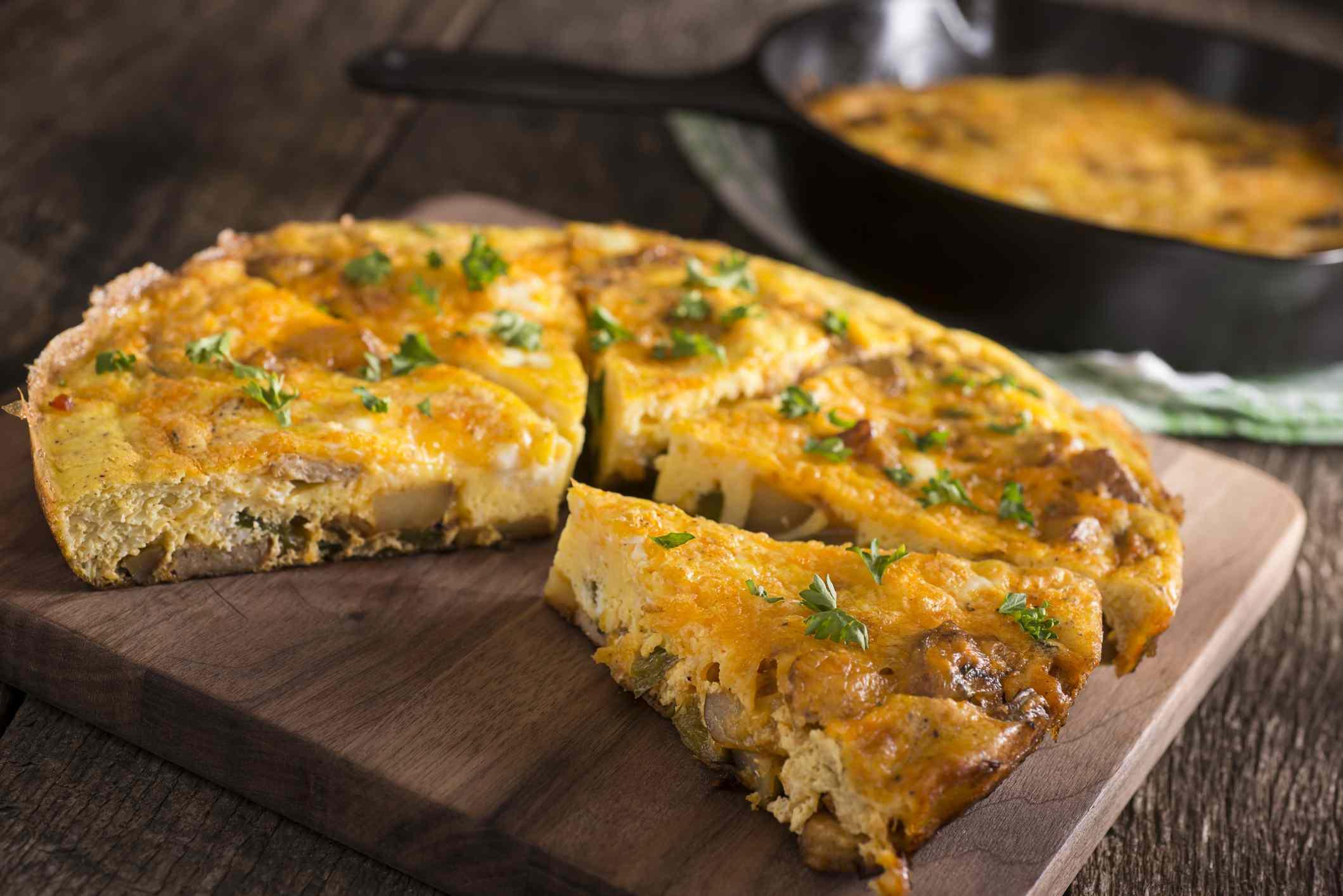 Cheese quiche slices