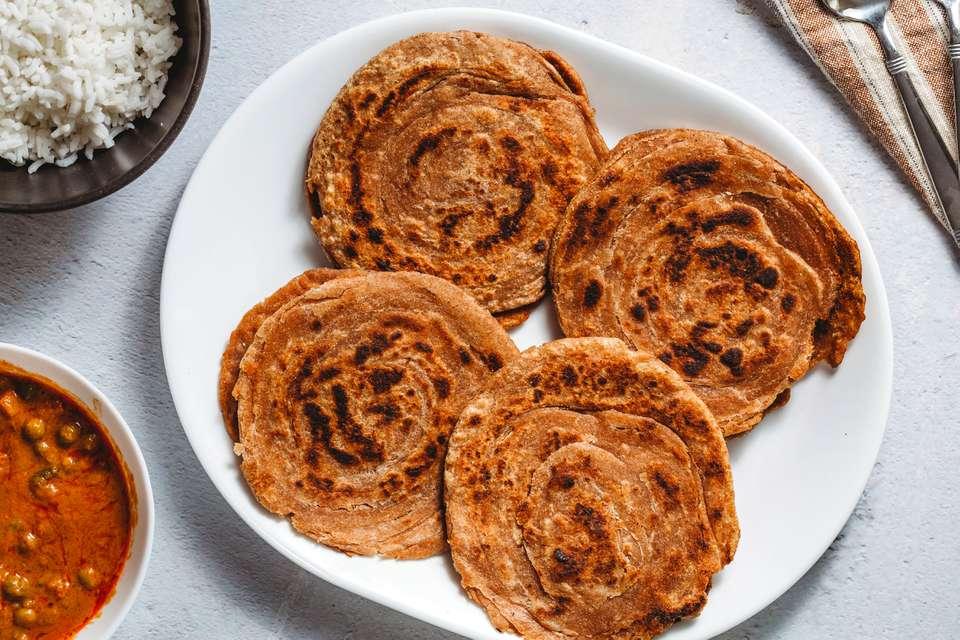 Lachcha Paratha (Layered Indian Bread)