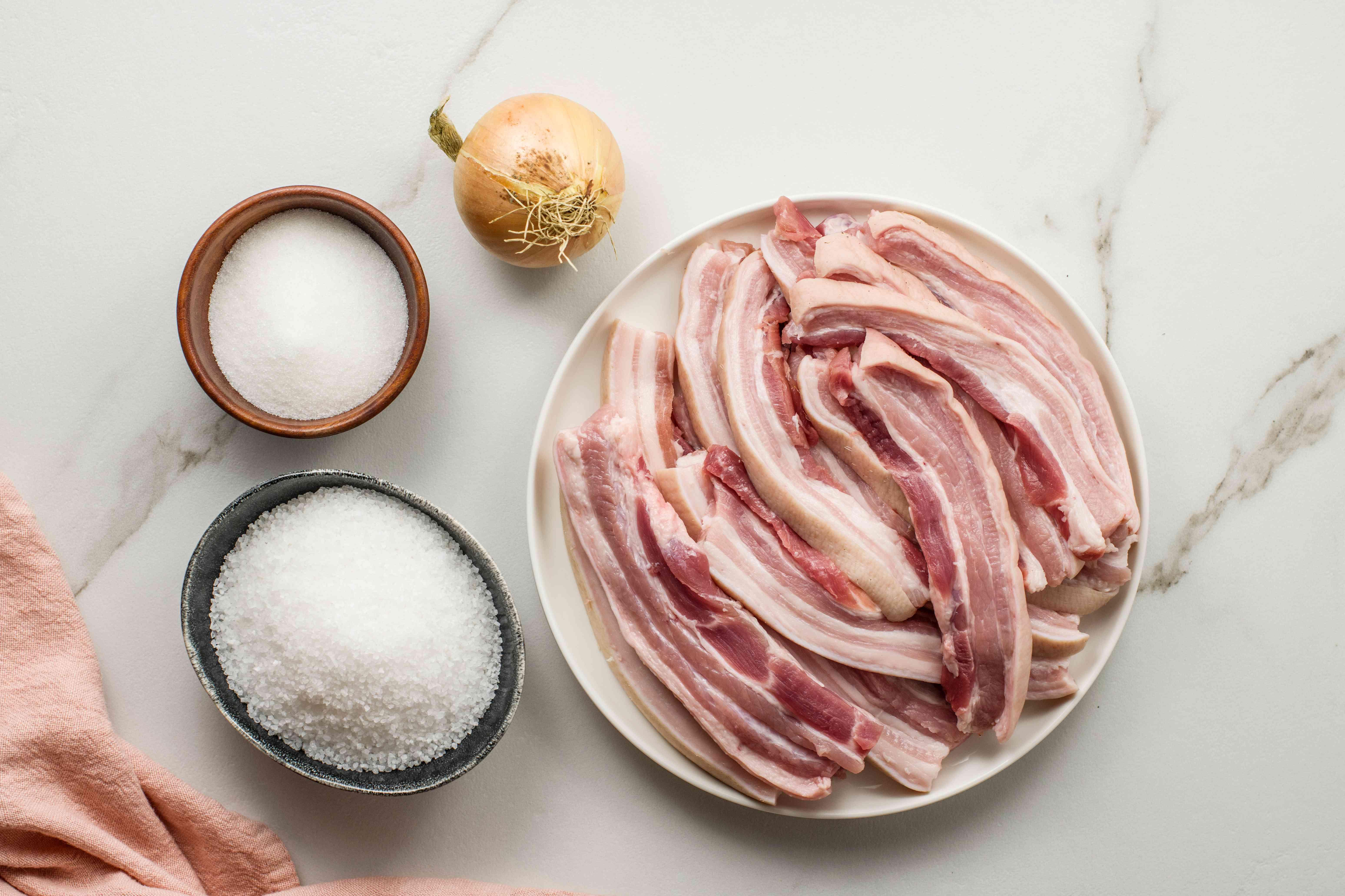 Salt pork ingredients