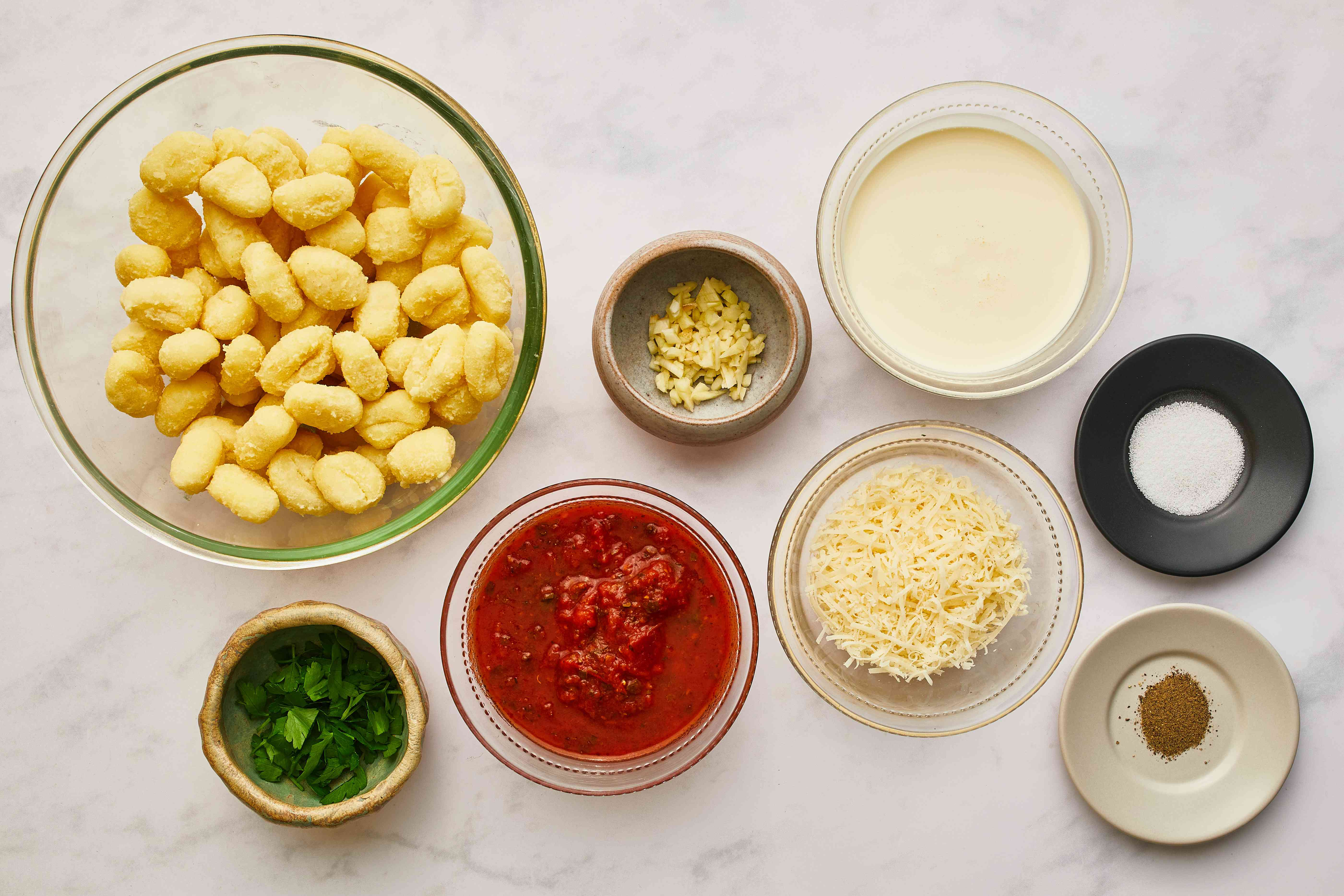 Creamy Pink Tomato Sauce for Gnocchi ingredients
