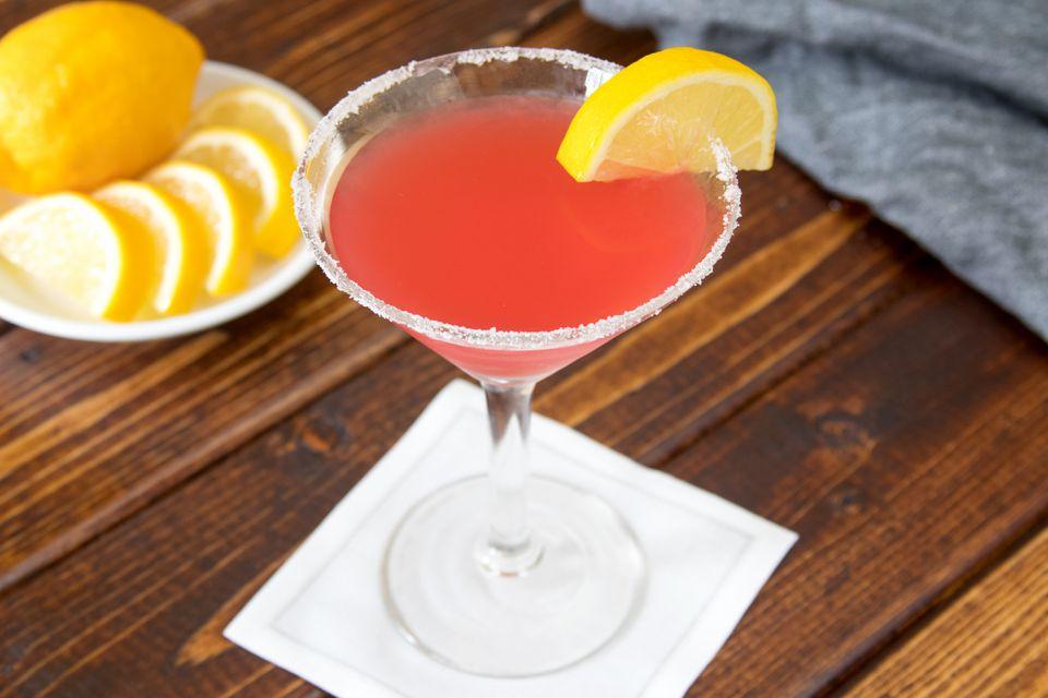 Blushing Lady Pomegranate Martini
