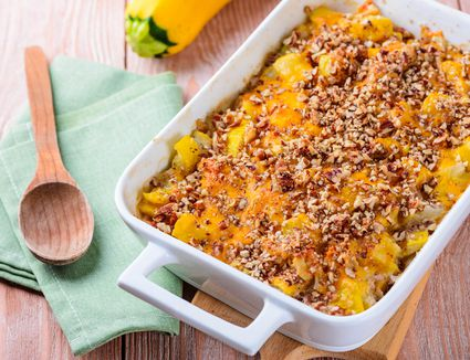 Basic squash casserole with cheese