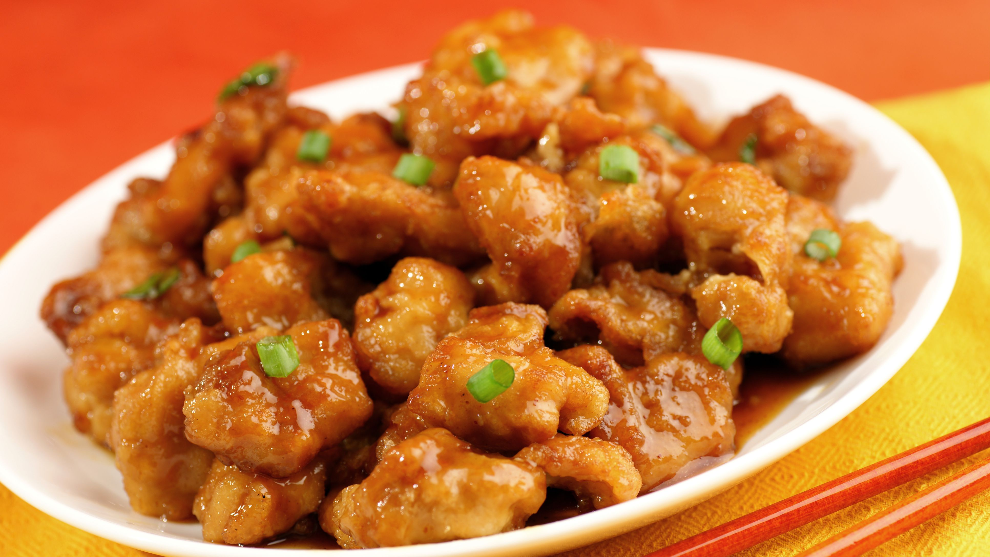 Orange Chicken With Red Chiles Recipe