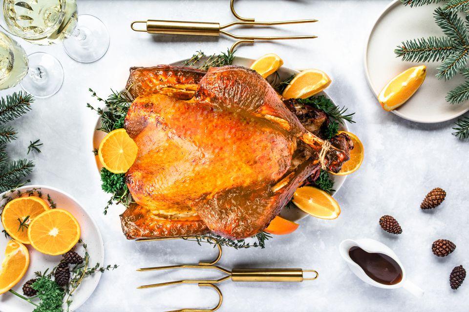 Balsamic and honey glazed roast turkey