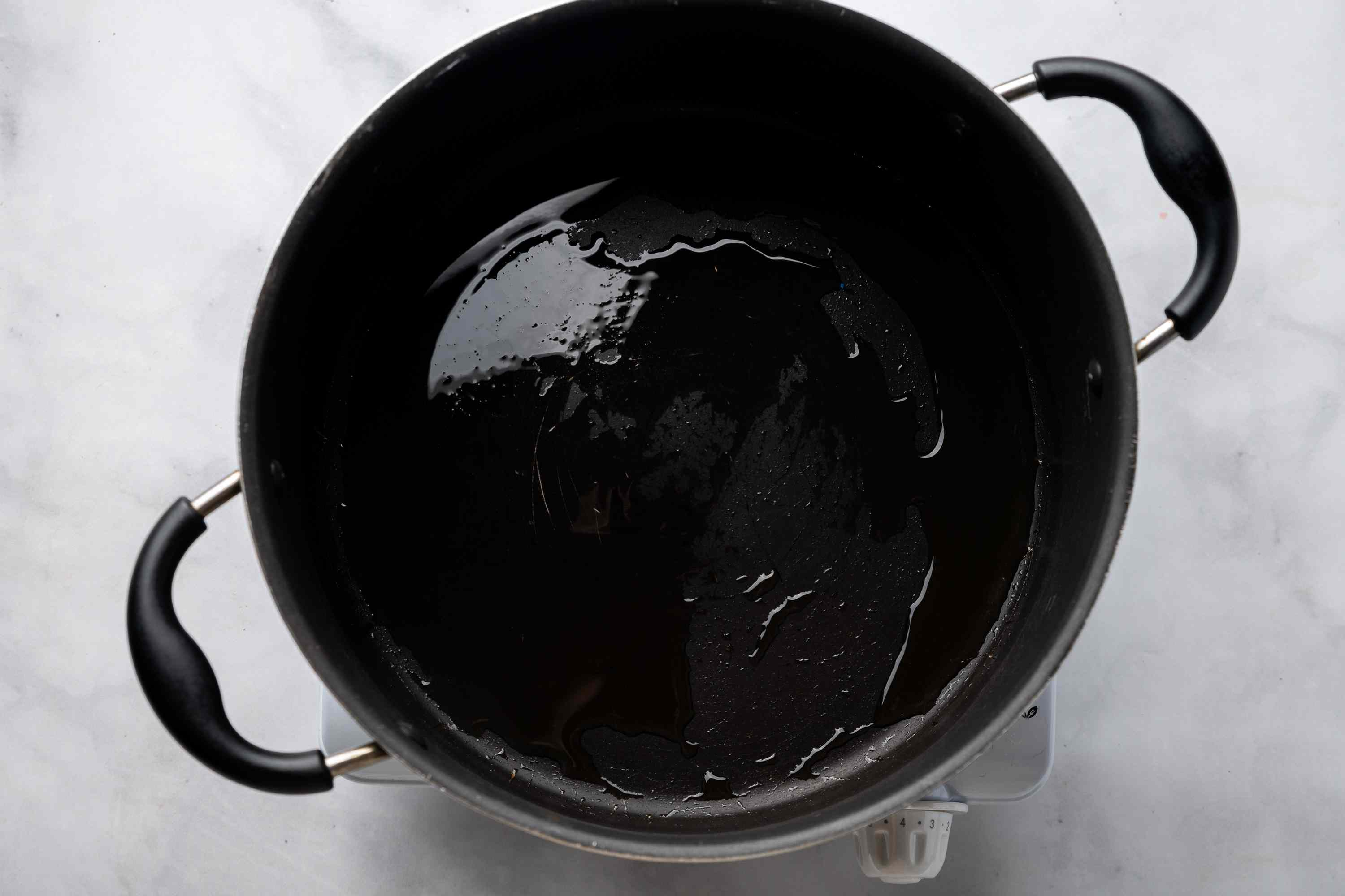 pot with oil