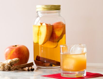 Homemade Apple Ginger Cinnamon Infused Vodka