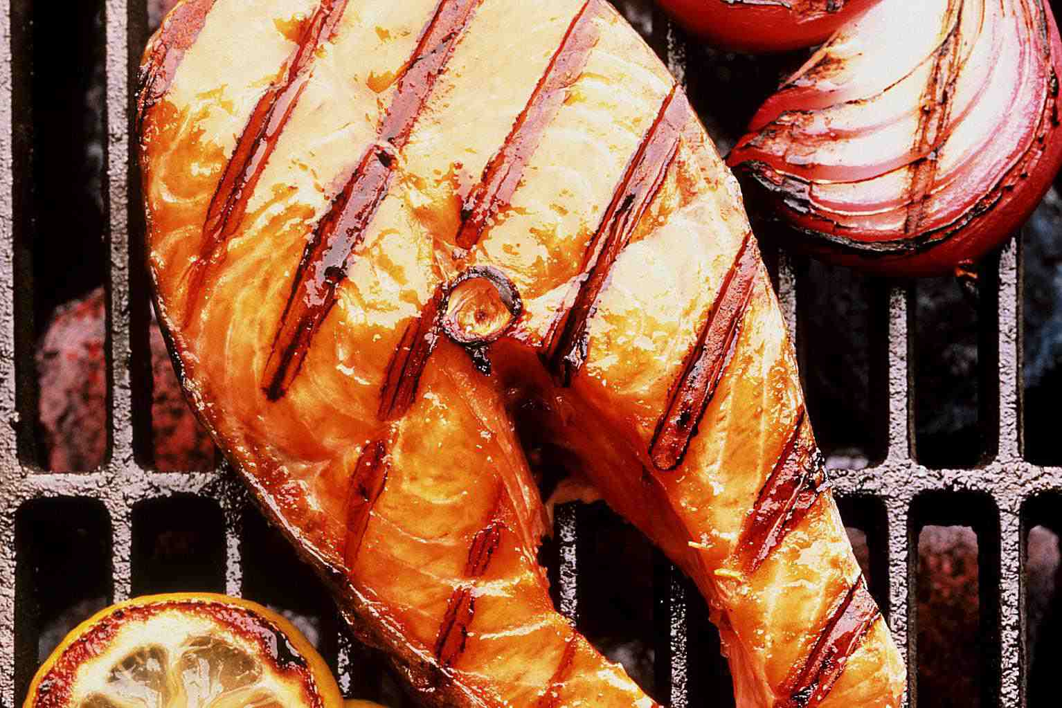 Grilled Salmon in BBQ sauce