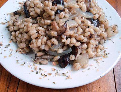 Barley and mushroom pilaf
