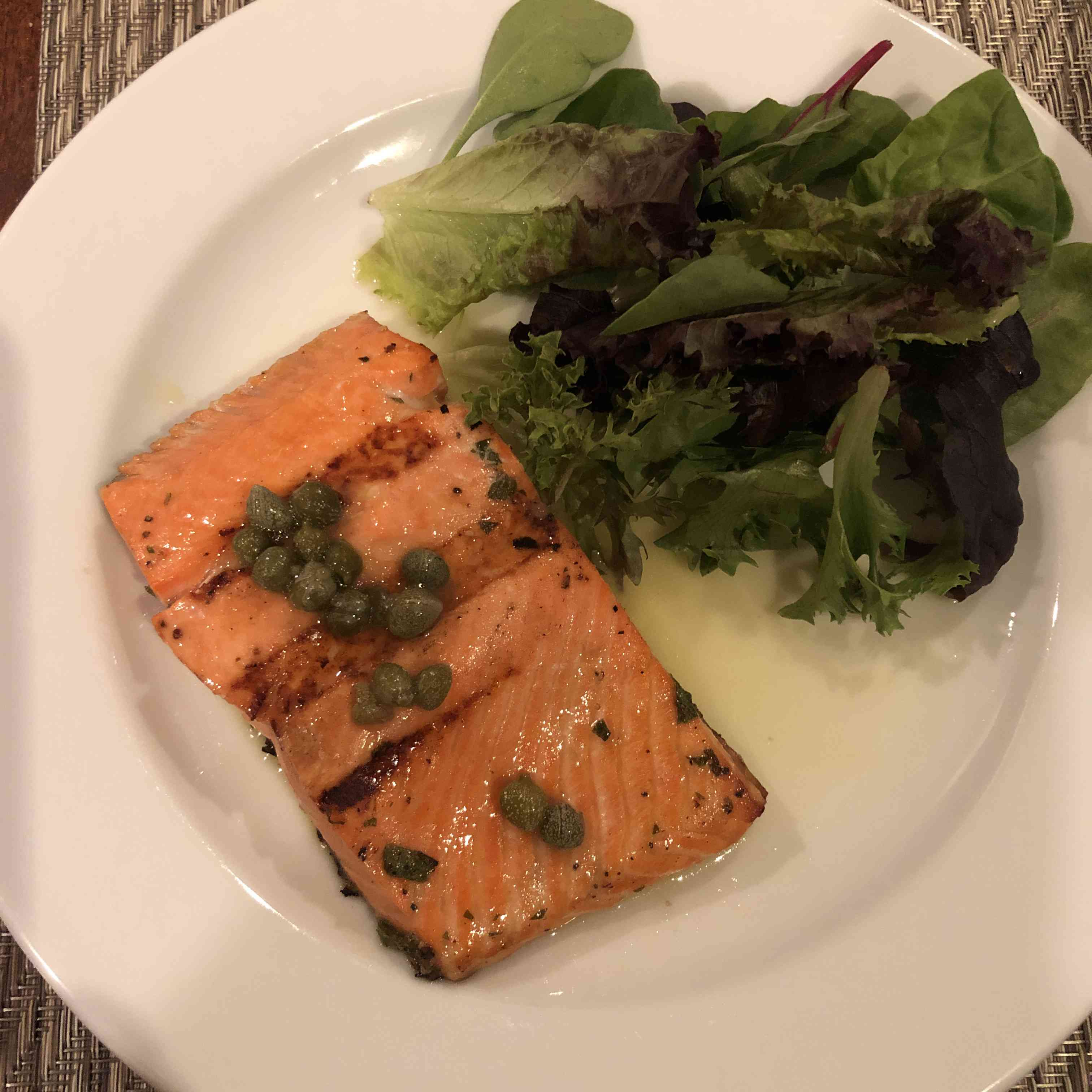Grilled Salmon With Lemon Caper Sauce Tester Image