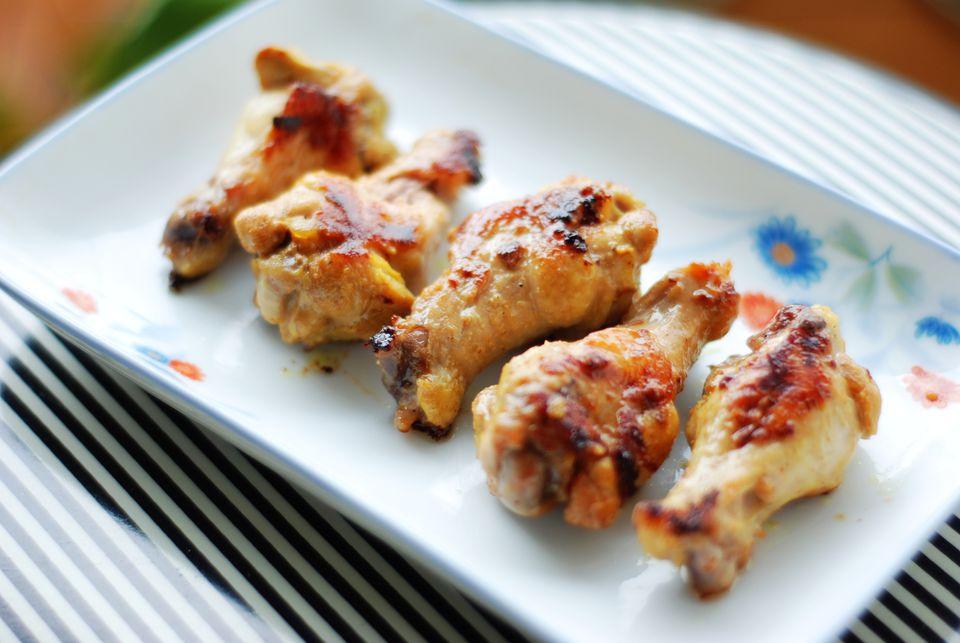 Miso Glazed Chicken Wings