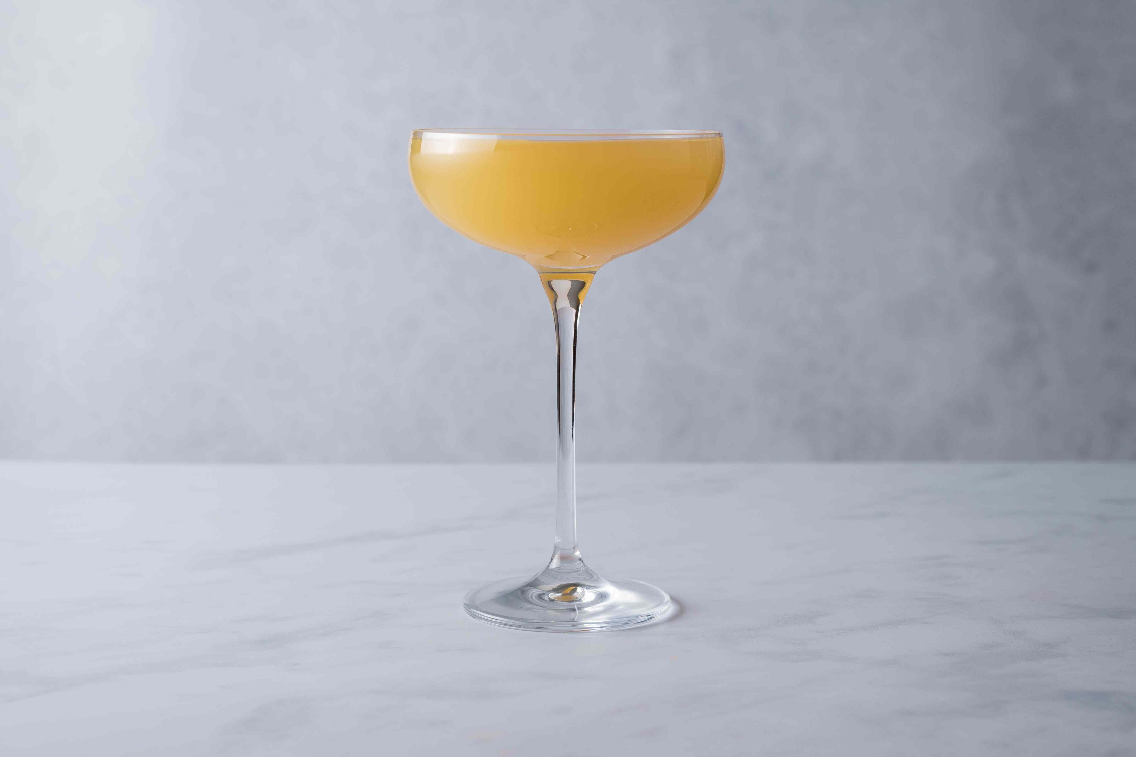 Strain cocktail into a chilled cocktail glass.