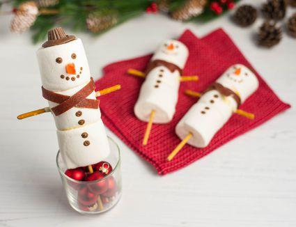 Marshmallow snowmen recipe