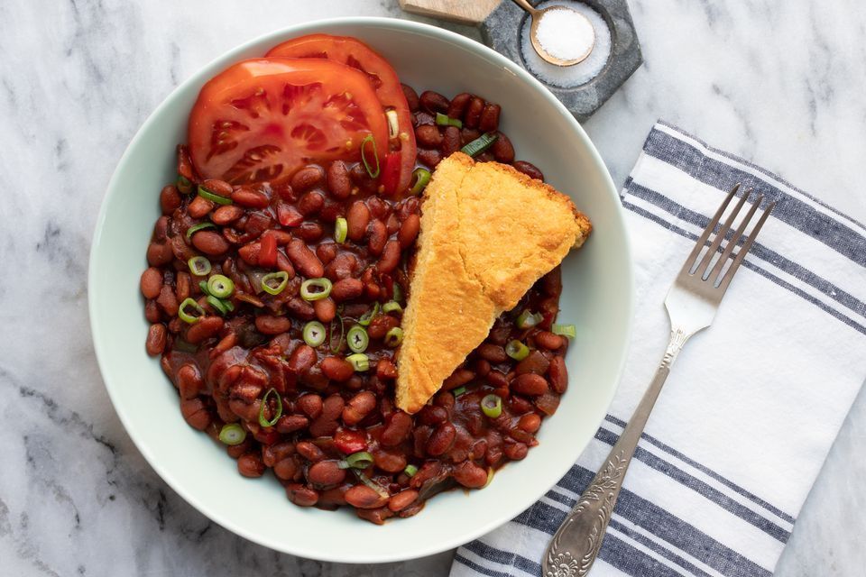 instant pot baked beans with cornbread