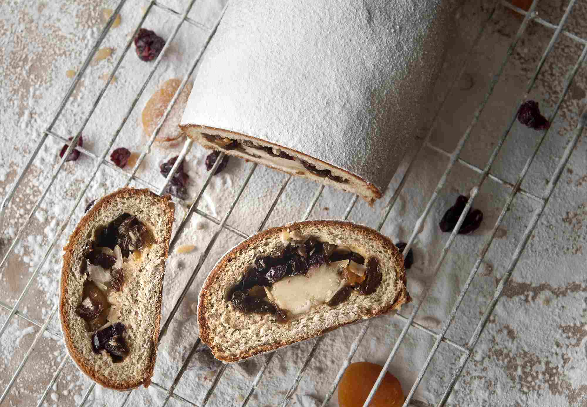 Light Cranberry and Apricot Stollen Recipe
