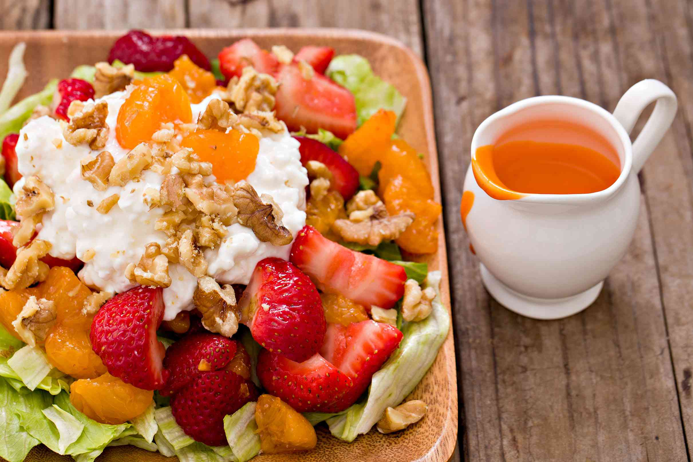 French salad dressing with salad