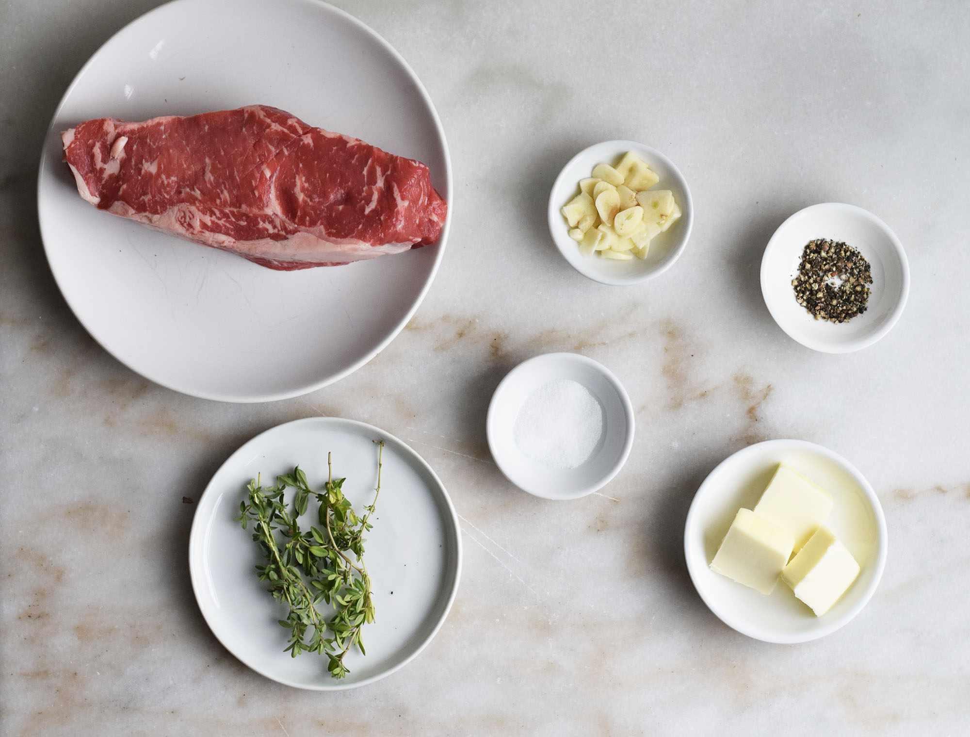Sous vide steak ingredients