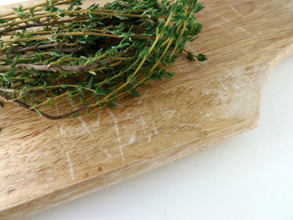 Thyme on a cutting board
