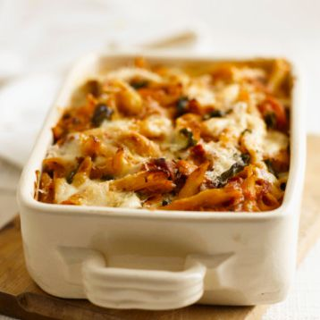 One Dish Meals - Baked Ziti with Spinach