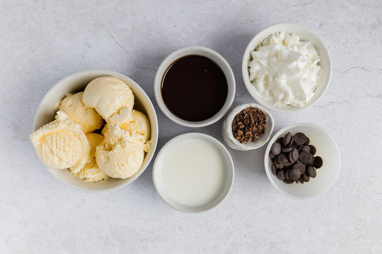 Chocolate Milkshake ingredients