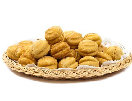 walnut-shaped cookies