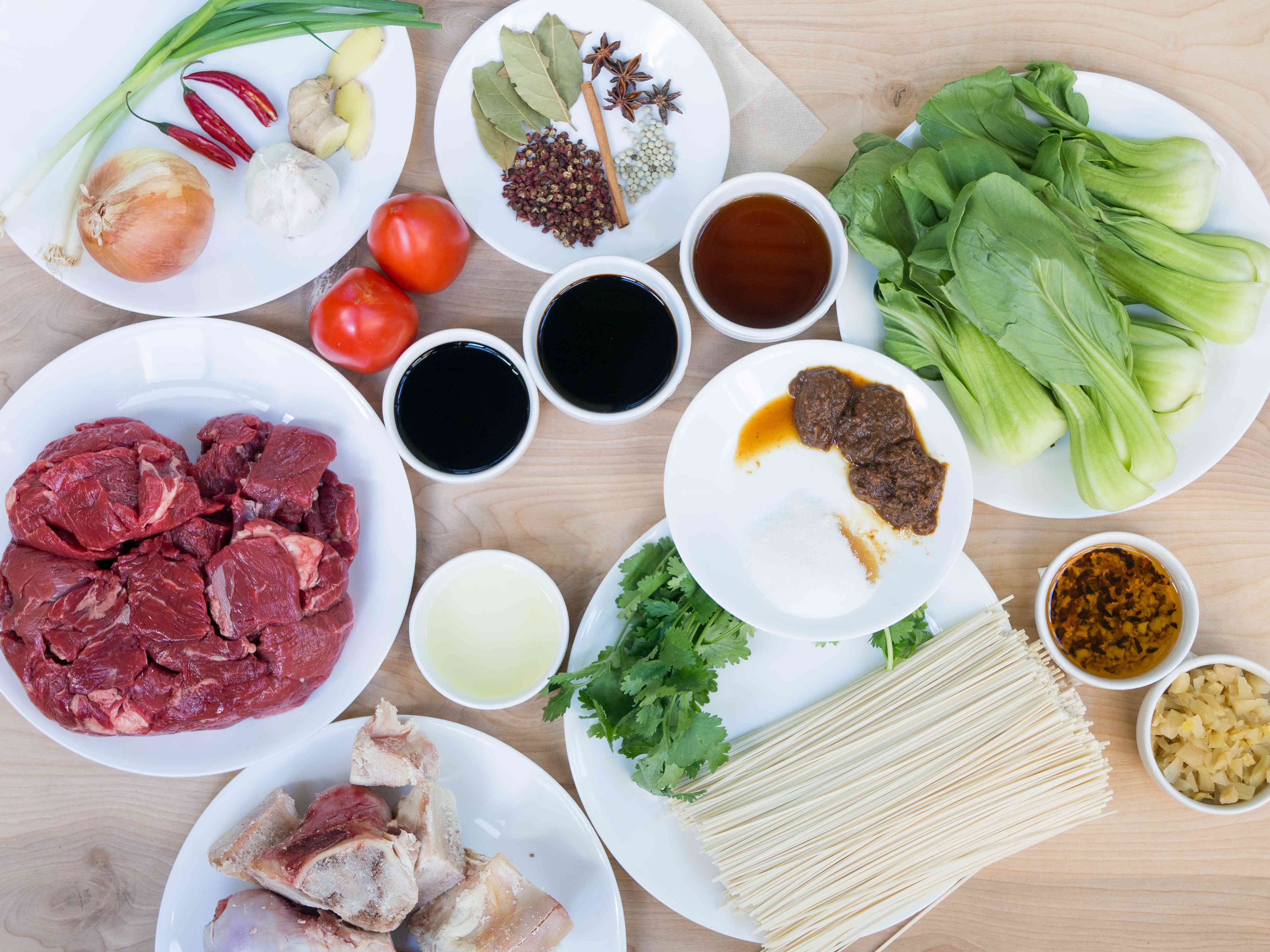ingredients for taiwanese beef noodle soup