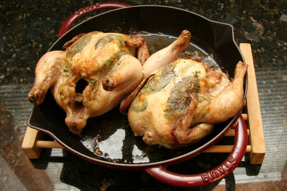 cornish hens with herbs and garlic