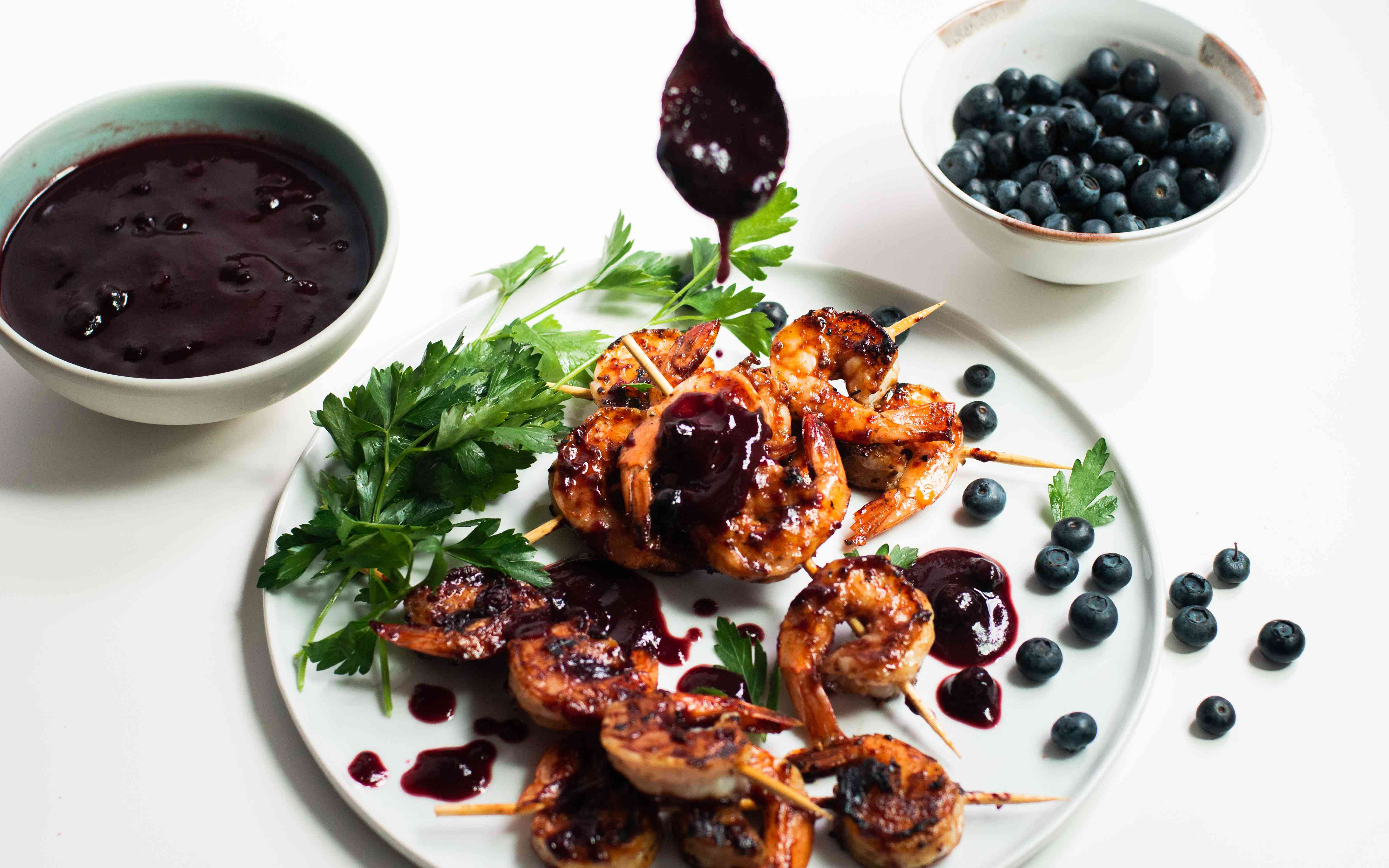 Add blueberry sauce and enjoy