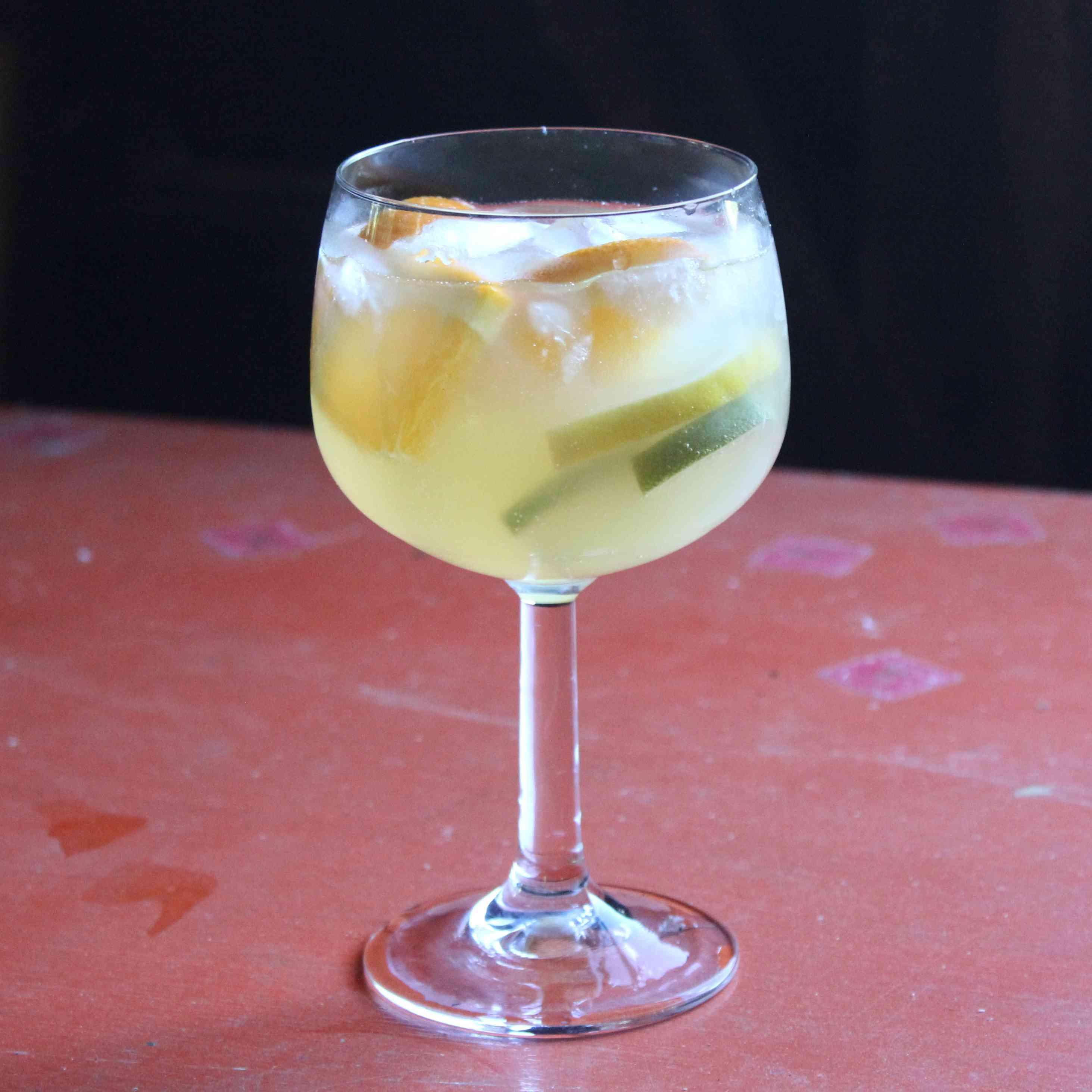 Simple White Wine Sangria Tester Image