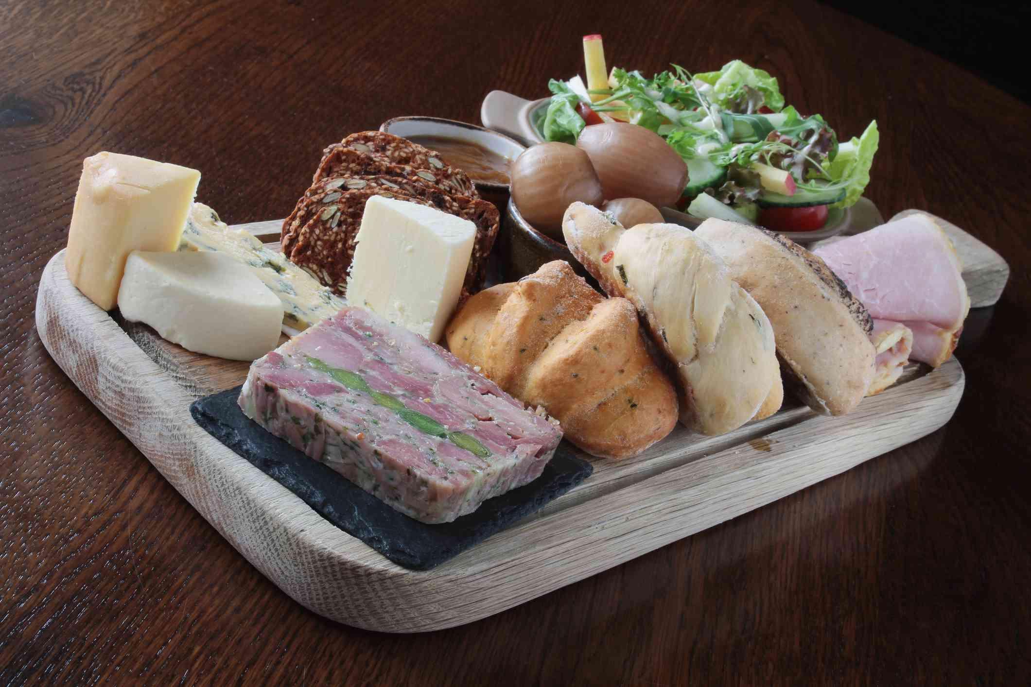Ploughman's platter lunch
