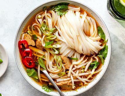 Vegan pho with seitan recipe