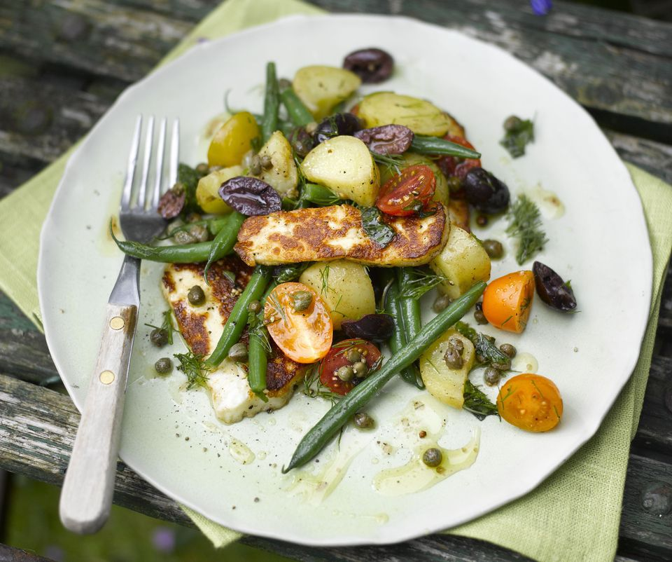 Halloumi, Green Bean and Potato Salad