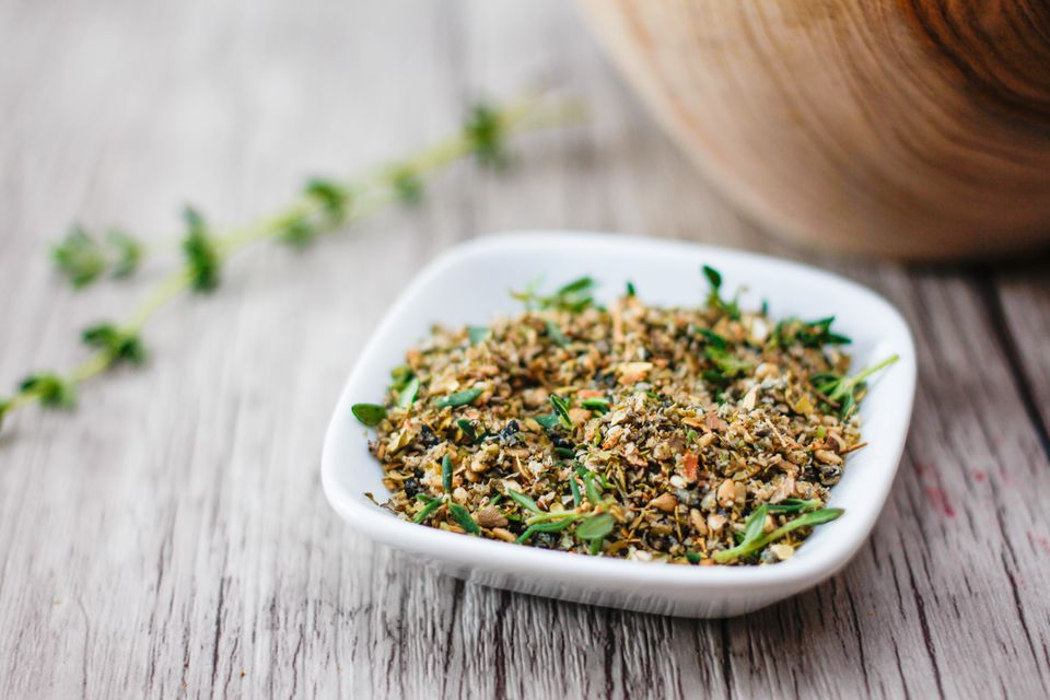 Za'atar Middle Eastern Spices in a white dish