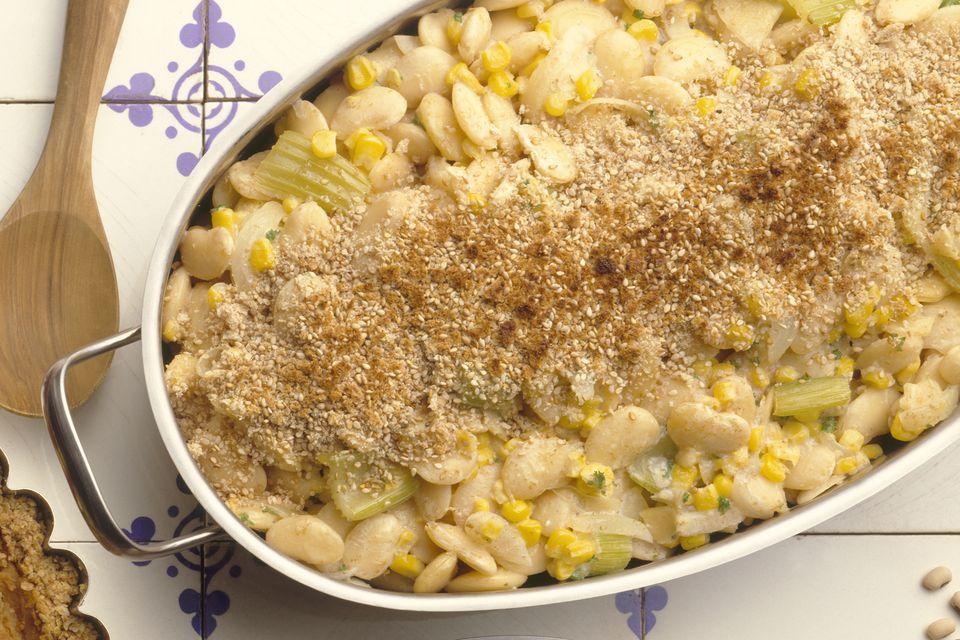 Corn and lima bean casserole