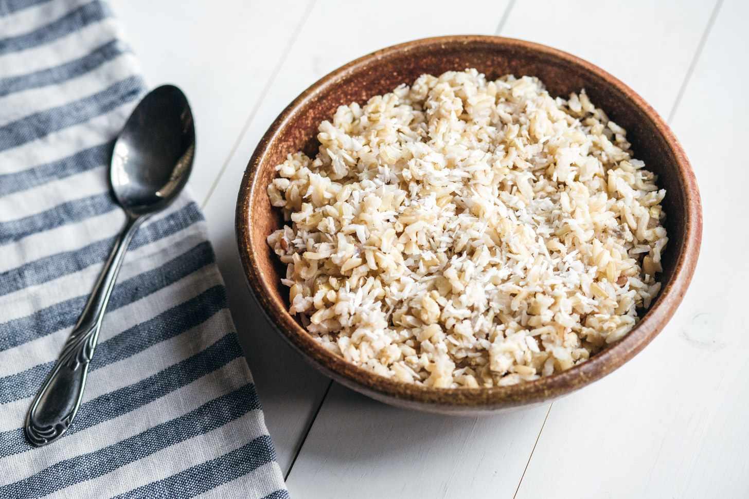 Thai coconut brown rice recipe