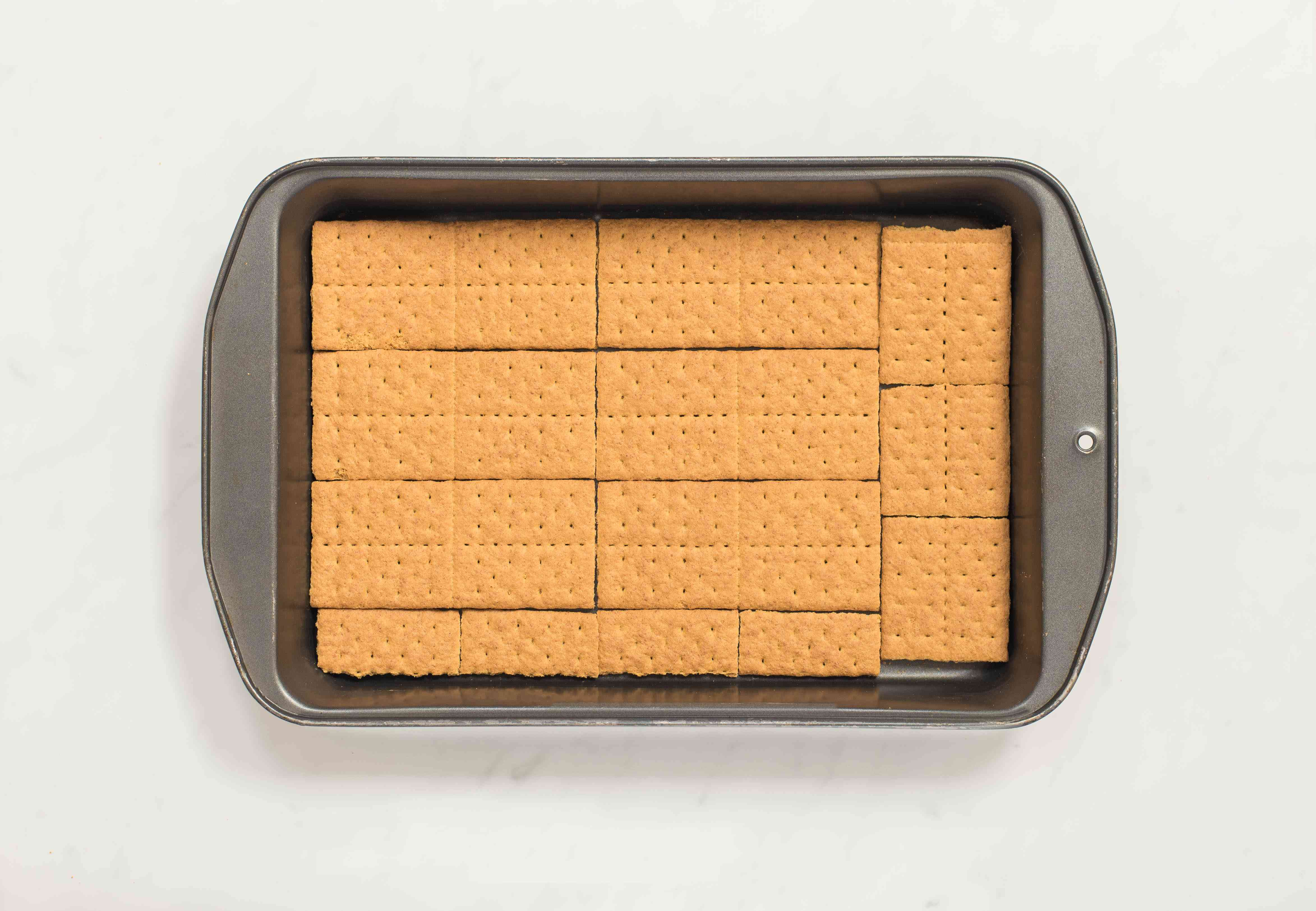 Place graham crackers at bottom