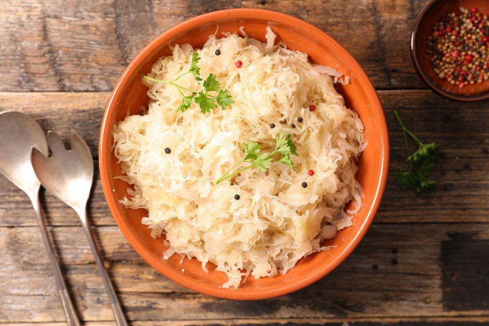 white cabbage,sauerkraut