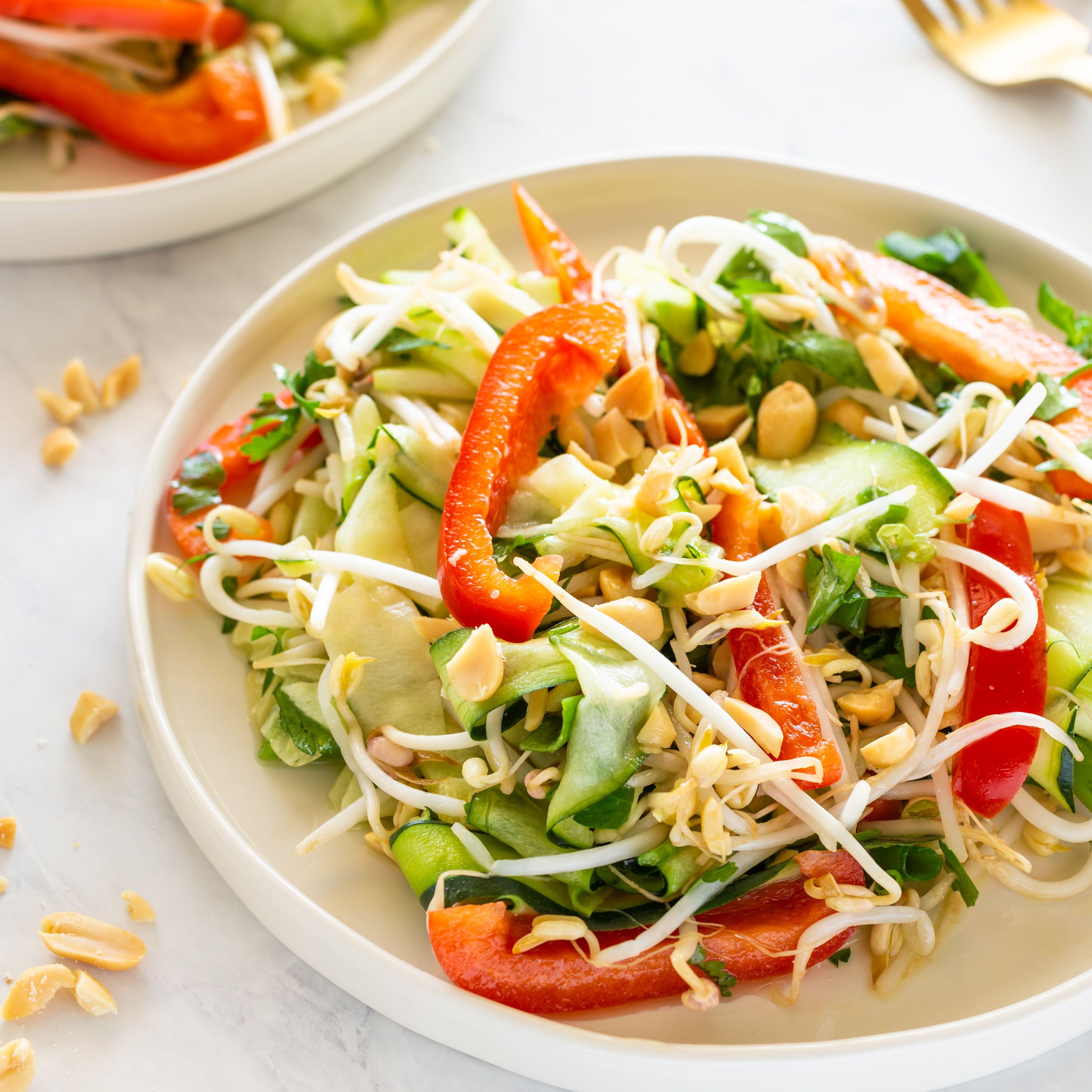 Raw Vegan Pad Thai Salad Recipe