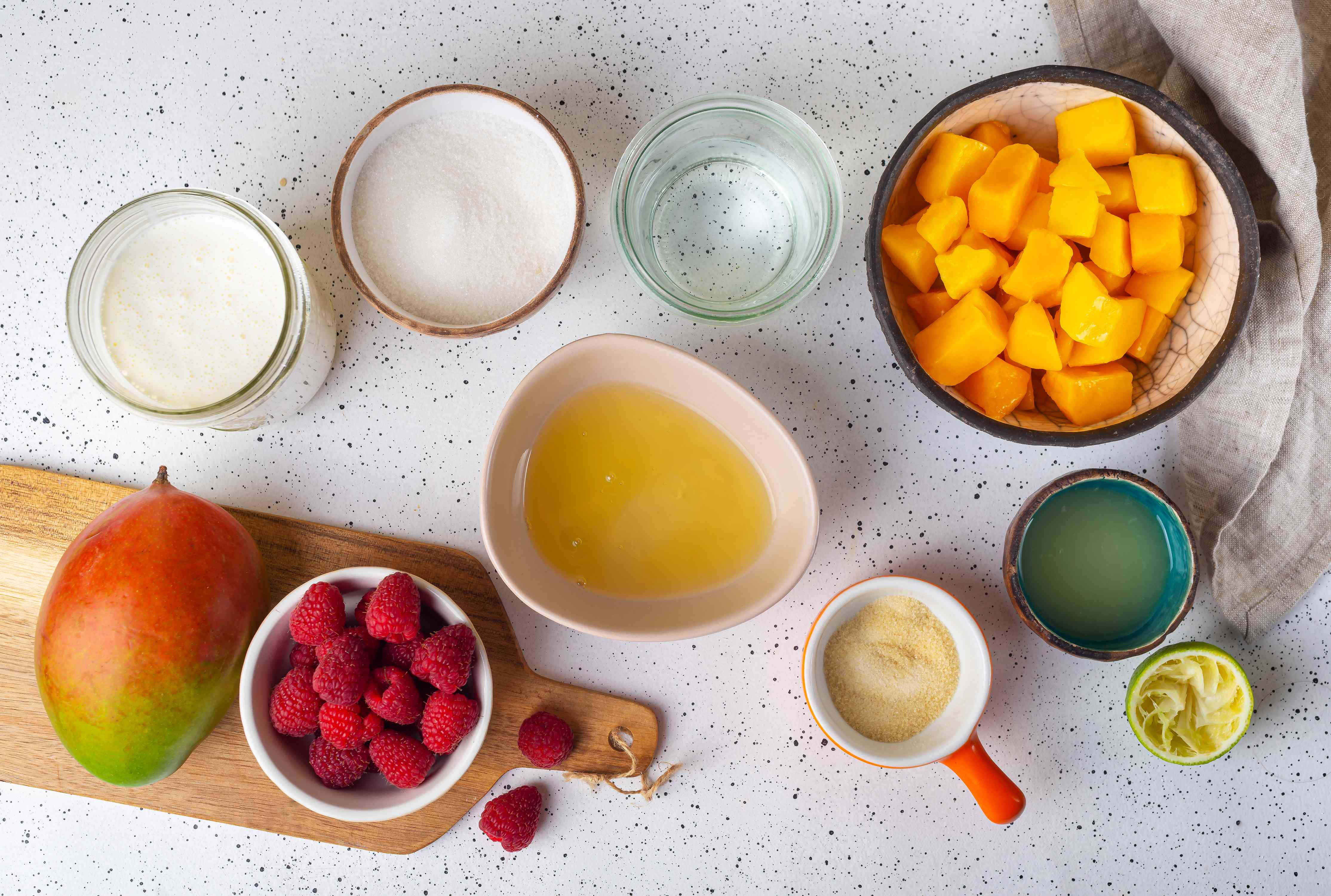 Ingredients for mousse