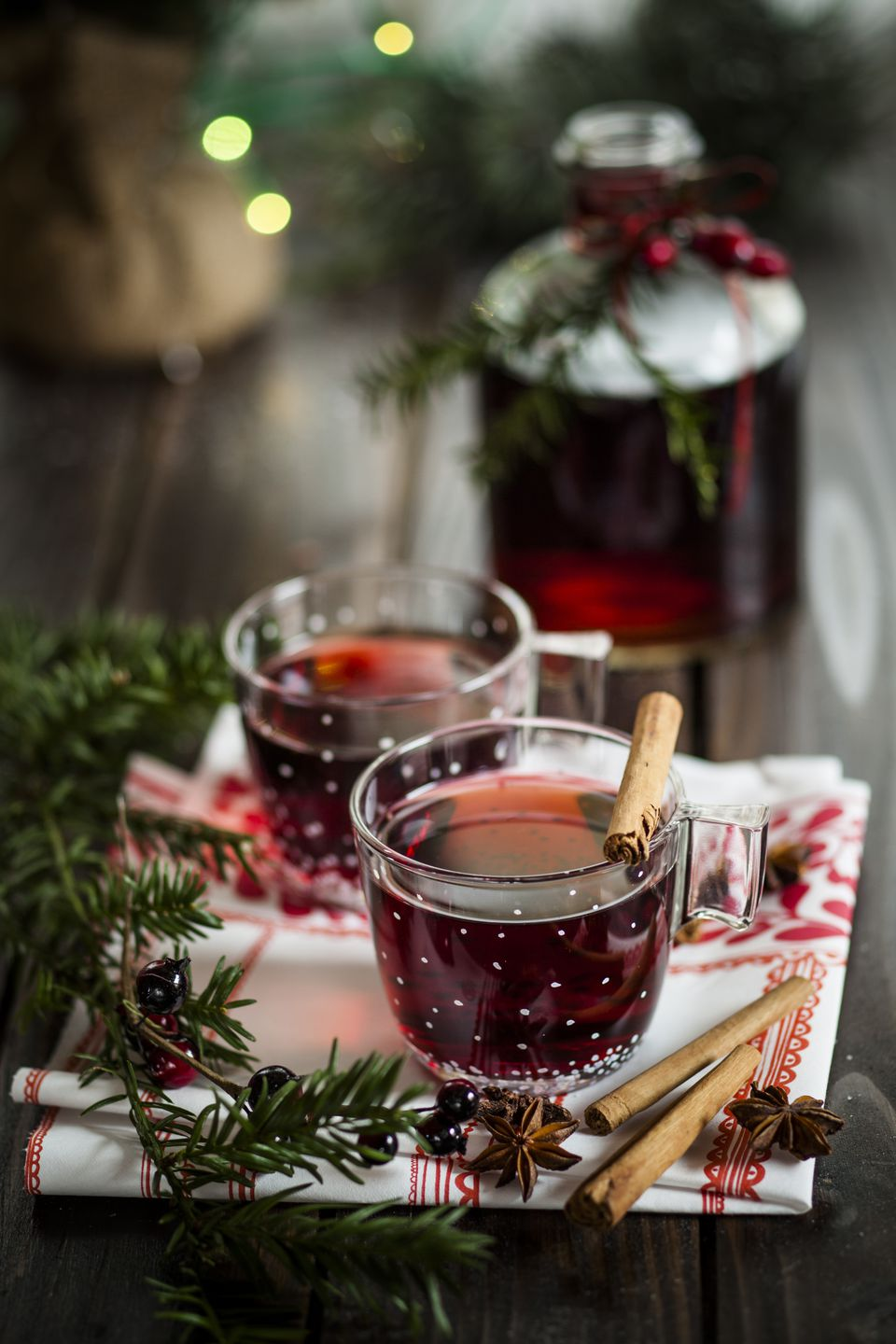 2 glasses of vin brule, Italian mulled wine