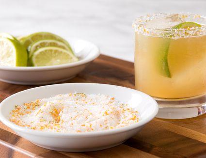 Margarita With Homemade Flavored Margarita Salt