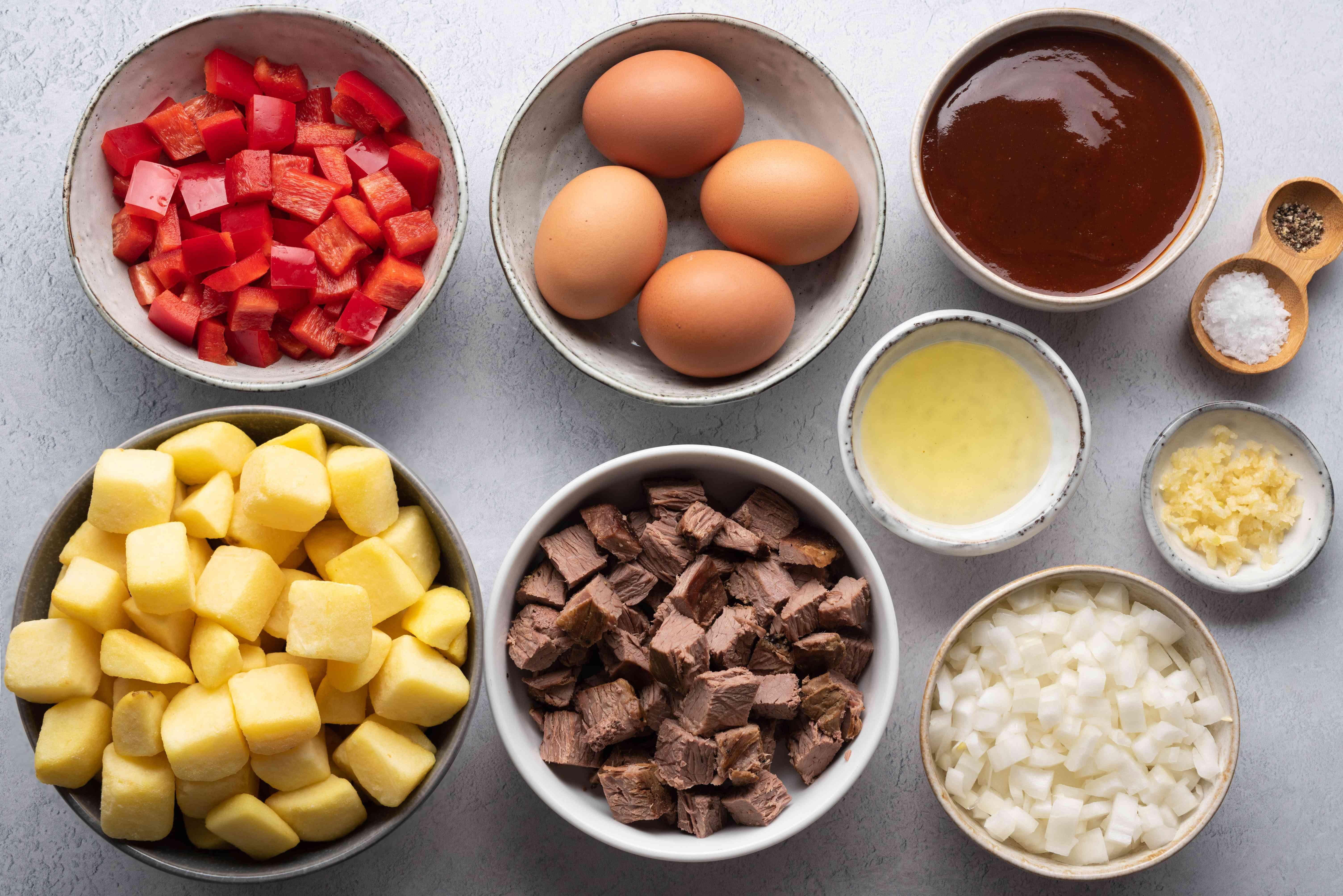 Brisket Hash and Eggs ingredients