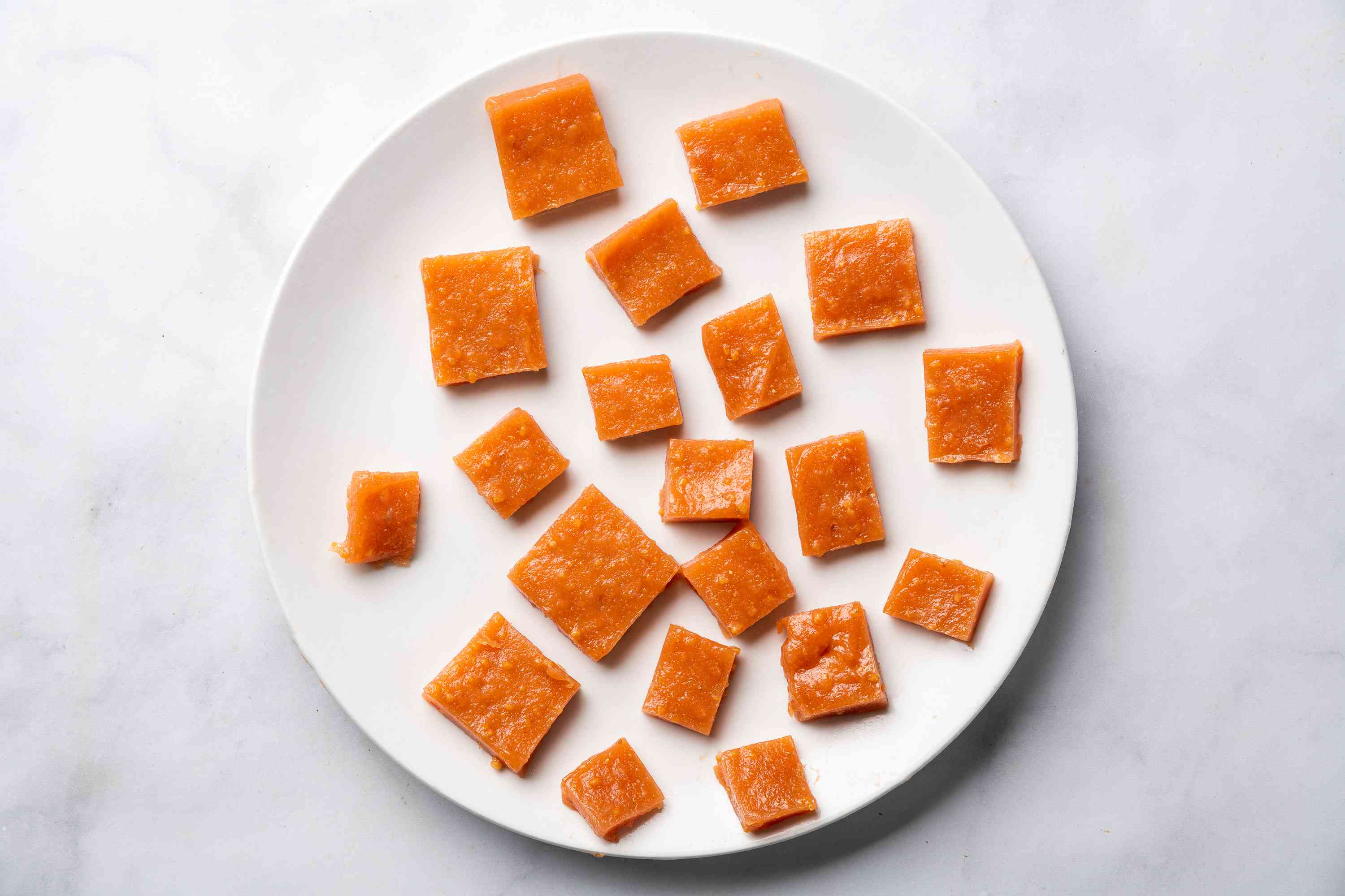 Indian Guava Cheese pieces on a plate