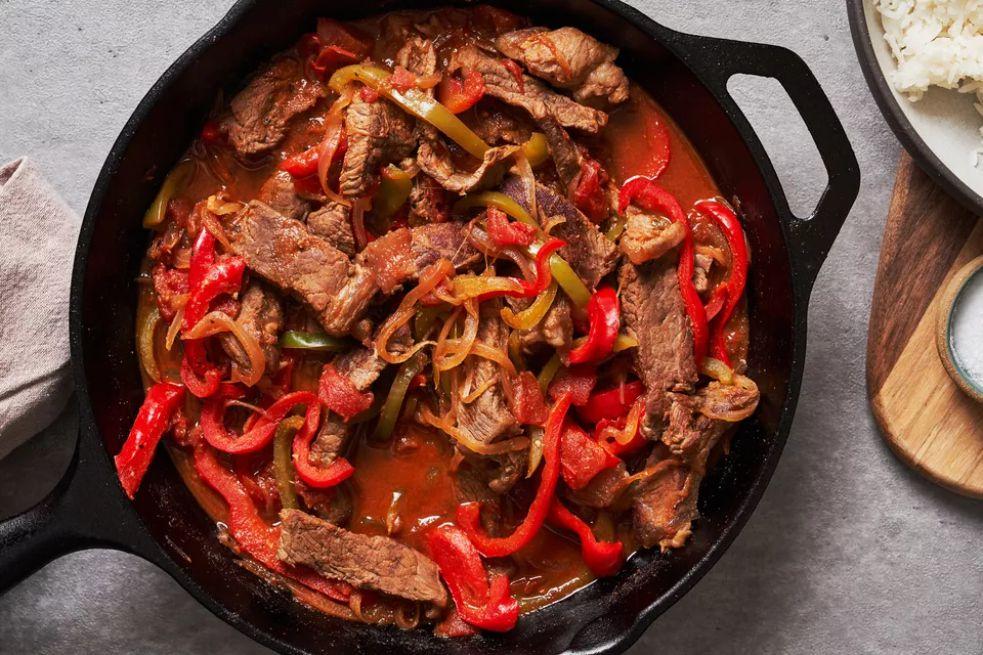 Skillet Pepper Steak and Rice