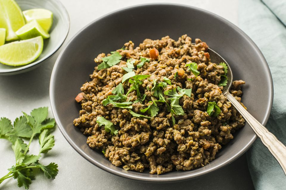 Masala kheema dry spicy minced meat